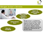 refugee action s services