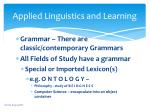applied linguistics and learning