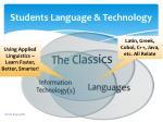 students language technology