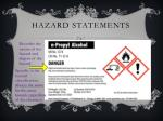hazard statements