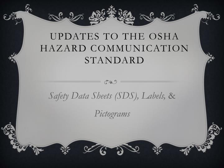 updates to the osha hazard communication standard n.