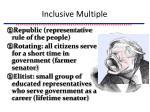 inclusive multiple