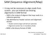 sam sequence alignment map