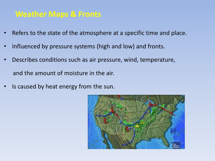 weather maps fronts n.