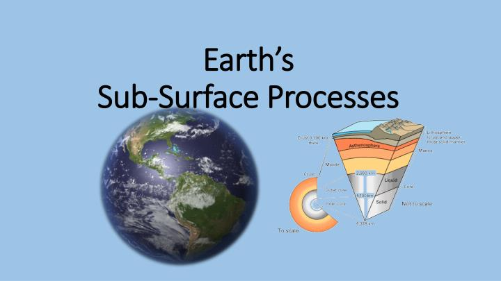 earth s sub surface processes