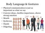 body language gestures