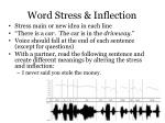 word stress inflection