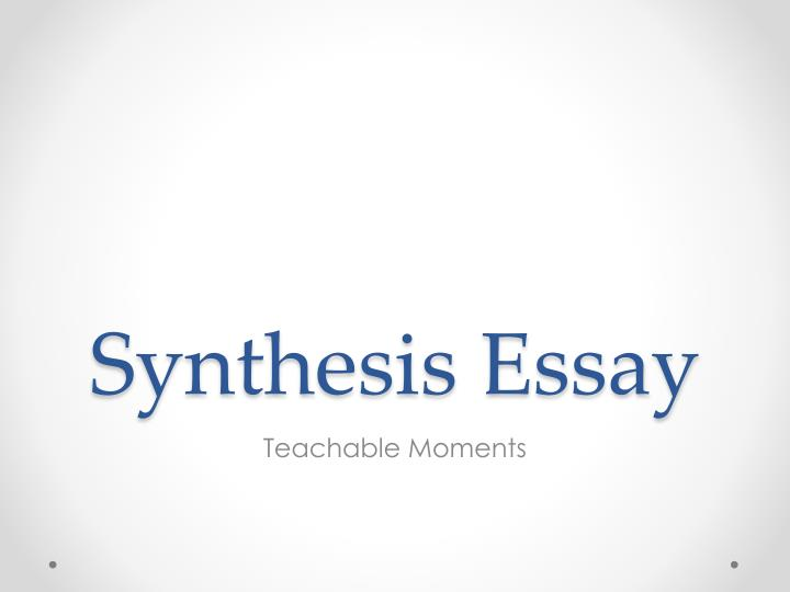synthesis essay n.