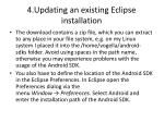 4 updating an existing eclipse installation5