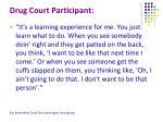 drug court participant