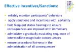 effective incentives sanctions