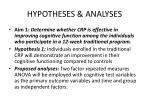 hypotheses analyses