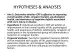 hypotheses analyses2