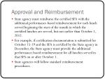approval and reimbursement