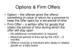 options firm offers