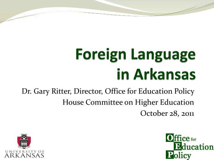 foreign language in arkansas n.