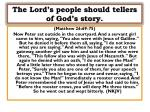 the lord s people should tellers of god s story1