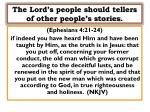the lord s people should tellers of other people s stories1