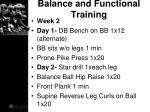 balance and functional training1