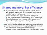 shared memory for efficiency