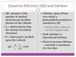 quantum efficiency qe and lifetime