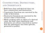 constructors destructors and inheritance
