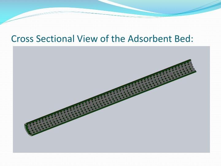 Cross Sectional View of the Adsorbent Bed:
