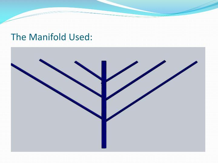 The Manifold Used:
