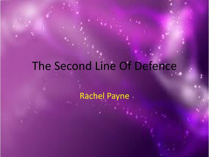 the second line of defence n.