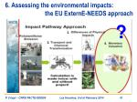 6 assessing the environmental impacts the eu externe needs approach