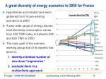 a great diversity of energy scenarios to 2050 for france