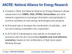 ancre national alliance for energy research