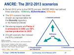 ancre the 2012 2013 scenarios