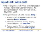 beyond lcoe system costs