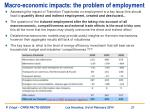 macro economic impacts the problem of employment