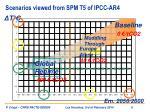scenarios viewed from spm t5 of ipcc ar4