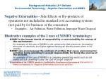 background material 2 nd debate environmental terminology negative externalities and nimby