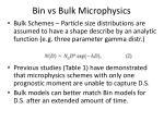 bin vs bulk microphysics