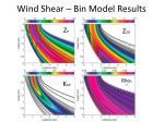 wind shear bin model results