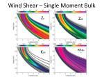 wind shear single moment bulk