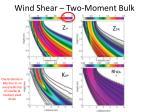 wind shear two moment bulk1