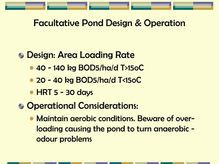Facultative Pond Design & Operation