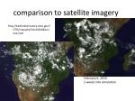 comparison to satellite imagery