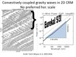 convectively coupled gravity waves in 2d crm no preferred hor scale
