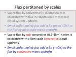 flux partitoned by scales1