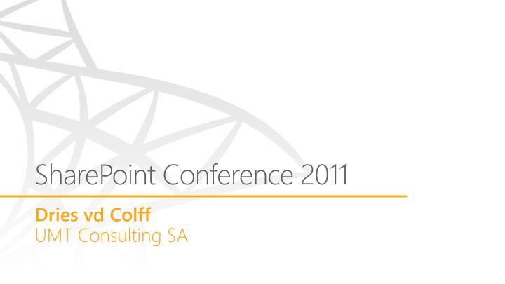 sharepoint conference 2011 n.