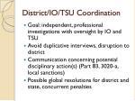district io tsu coordination
