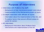 purpose of interviews