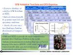 cfb validation test data and cfd expertise
