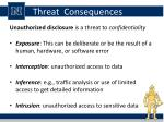 threat consequences